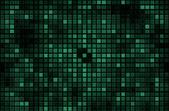 Green pixel mosaic background Stock Photos