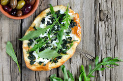 Green pizza Stock Images