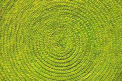 Green place mat wicker texture. Background stock image