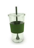 Green plactic cup Stock Images