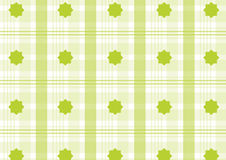 Green plaid. With ornaments, editable. can use like baby wallpaper or wrap Royalty Free Stock Images