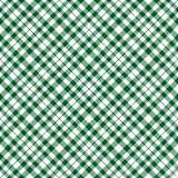 Green Plaid Background Stock Photography