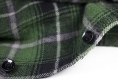 green plaid flannel fabric cloth Stock Photo