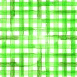 Green plaid seamless pattern Stock Photos