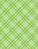 Green plaid textile Royalty Free Stock Photo