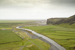 Green plain in Iceland Royalty Free Stock Images