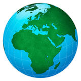 Green planet � Europe centric Stock Images