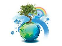 Green planet. Help save the world Stock Image