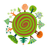 Green Planet. Vector Illustration of Green Planet Royalty Free Stock Image