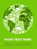 Green planet. Earth outline made from animal icons on a green background Stock Photo