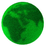 Green Planet. Globe with detailed green grass. 3d High Quality Render Stock Images