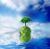 Green Planet. Green ecology concept for your design Royalty Free Stock Photos