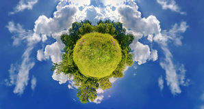 Green planet Stock Image