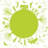 Green planet royalty free illustration