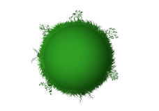 Green planet. There is a green planet with grass and trees Royalty Free Stock Photography