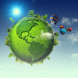 Green planet. Royalty Free Stock Image