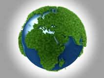 Green Planet - Africa Europe Stock Image
