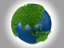 Green Planet - Asia Australia Royalty Free Stock Photo