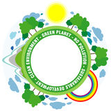 Green planet background vector illustration