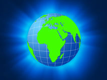 Green planet background Stock Photography