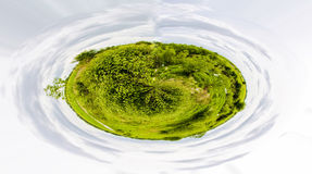 Green planet - concept of 360 shoot of greens Royalty Free Stock Photography