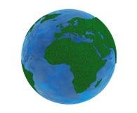 Green Planet Concept. Grass Earth Globe Stock Photos