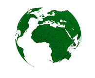 Green Planet Concept. Grass Earth Globe Royalty Free Stock Images
