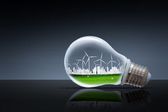 Green planet concept. Wind Turbine Clean Nature Ecology Environment. Green planet concept. Wind Turbine Clean Nature Ecology Environment Stock Photos