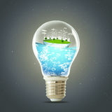 Green planet concept. Wind Turbine Clean Nature Ecology Environment. Green planet concept. Wind Turbine Clean Nature Ecology Environment Royalty Free Stock Photos