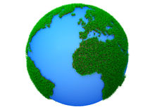 Green planet dream. Green World globe isolated on white Royalty Free Stock Photos