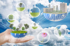 Green planet for the earth. Royalty Free Stock Photography