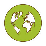 green planet earth icon image Royalty Free Stock Photos