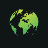 Green planet earth. Simple style green planet earth Royalty Free Stock Image