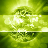 Green planet earth Royalty Free Stock Photos
