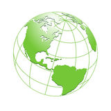 Green planet Earth, world globe maps royalty free illustration