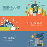 Green planet eco energy nature friendly pollution Stock Image
