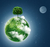Green planet. Ecology concept. Royalty Free Stock Photography