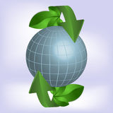 Green planet, ecology. Stock Photo