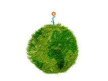 Green planet with flower Royalty Free Stock Photo