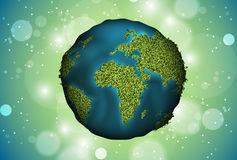 Green planet grass Stock Image