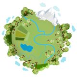 A green planet royalty free illustration