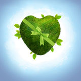 Green planet heart shaped Royalty Free Stock Photos
