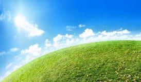 Green planet horizon Stock Photos