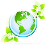 Green planet icon Stock Photo