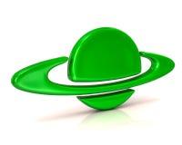 Green planet icon Royalty Free Stock Photos
