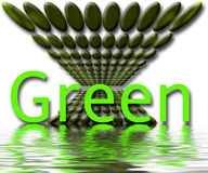 Green planet illustration. With watery surface and ripples Royalty Free Stock Photography