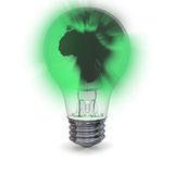 Green planet light Royalty Free Stock Images