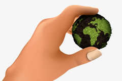 Green planet in the palm Stock Image