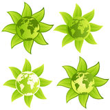 Green Planet - sign/button Royalty Free Stock Photo