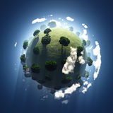 Green planet from space Stock Image